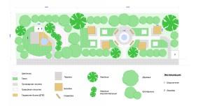Проектирование озеленения территории, эскиз 3
