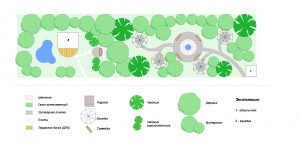 Проектирование озеленения территории, эскиз 2