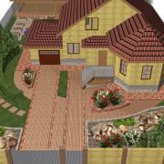 Проектирование озеленения территории, эскиз 5
