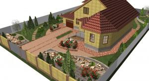 Проектирование озеленения территории, эскиз 6