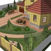 Проектирование озеленения территории, эскиз 8
